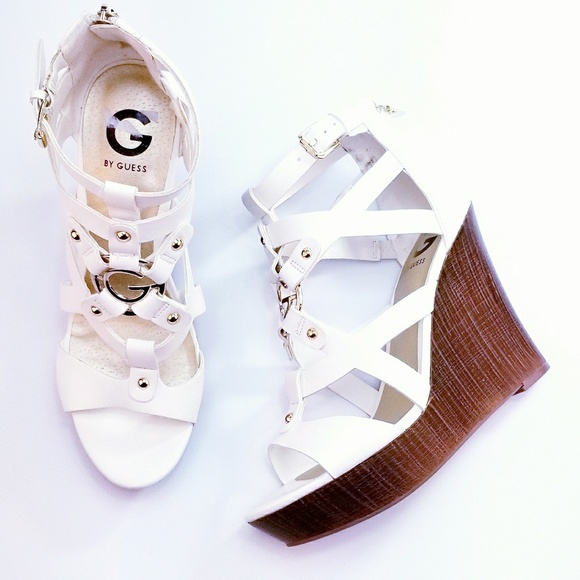 5584acff7 G by Guess Shoes | Nib Dodge Wedge Open Toe Sandal | Poshmark